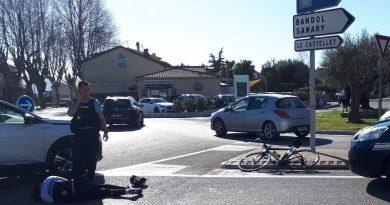 Accident de vélo au Beausset